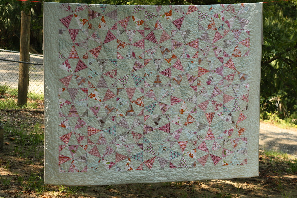 Our new bed quilt! Kaleidoscope Quilt Along with Don't Call Me Betsy