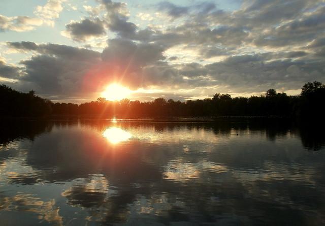 zonsondergang in Provinciaal domein Kessel-Lo