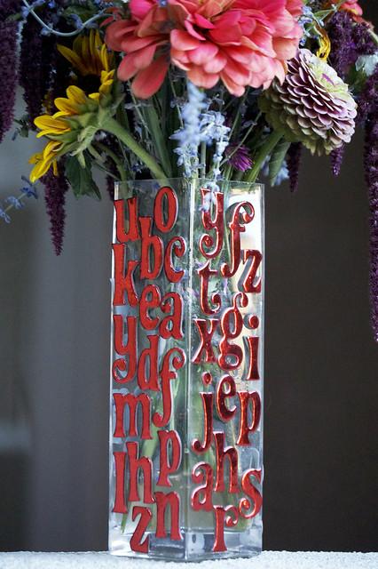 fancy font vase 3