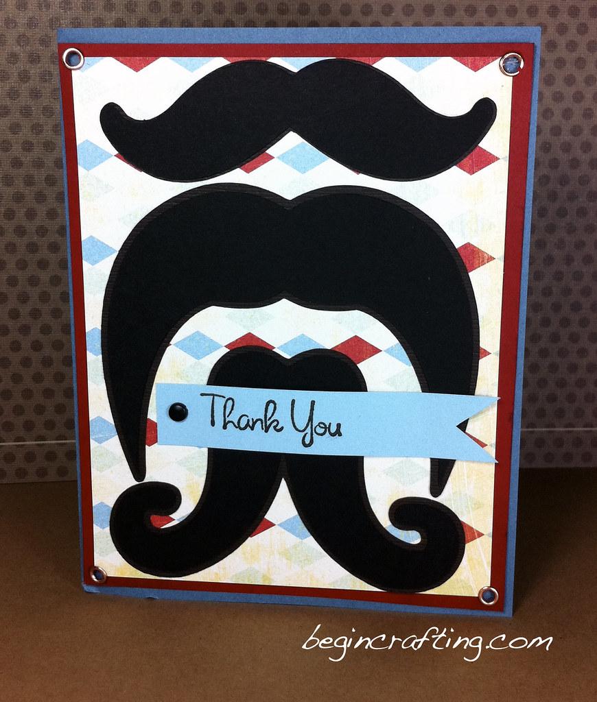 Handmade Mustache Card