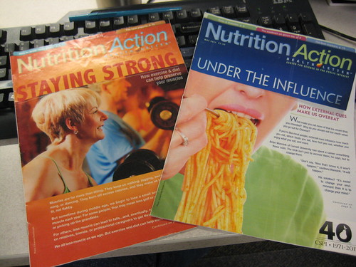 Nutrition Action magazines