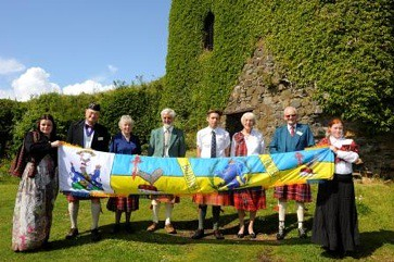 Dunollie Castle and Flag