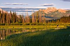 Harmony (JoLoLog) Tags: trees lake canada mountains sunrise alberta rockymountains banffnationalpark lorien canadianrockies thephotographer vermilionlakes canonxsi