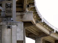 Granville Bridge (catchy.username) Tags: bridge urban vancouver concrete whitebackground warmtones