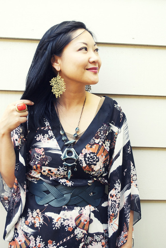 Sheer Kimono Cardigan - Black Skinny Jeans
