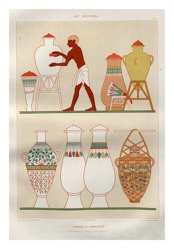 016-Jarras y anforas-Tebas dinastia XVIII-Histoire de l'art égyptien 1878- Achille Constant Théodore Émile