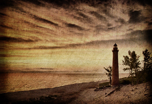 Little Sable Lighthouse by Queen Be-Lynne Larkin