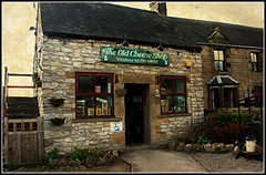 The Old Cheese Shop (Audrey A Jackson) Tags: door signs building texture shop village derbyshire country cottage steps pathway cheeseshop hartington indows canon450