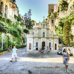 Sainte- Dvote Church - HDR - Montecarlo (Margall photography) Tags: people motion church photography sainte montecarlo monaco marco devote marumi galletto nd8 margall