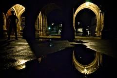 tous ses os avaient ete remis en place (patrice.lanoy) Tags: water campus lights student university flood reflet princeton reflexion nocturne universite