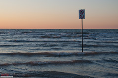 ? (2darkwings) Tags: sign sunrise alba forbidden question now divieto veneto cavallinotreporti nikkor18105vr nikond5000 cavallino2011