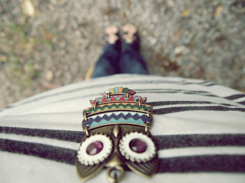 owl necklace love