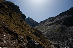 The Rothorn (2998m) as seen between two hillsides Photo