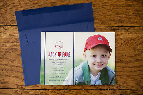 Jack's 4th birthday party invitation