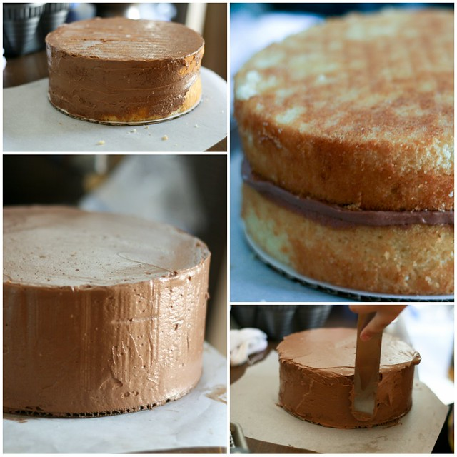 Flour Bakery Yellow Cake collage 2