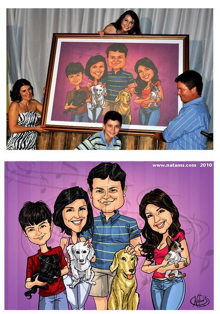 Caricatura_Familia_Digital_Familia_feliz_NatanSS_2010_encomendas_Curitiba_Quadro