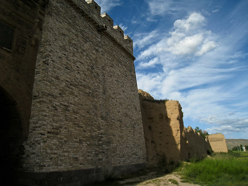Triumphal castle wall