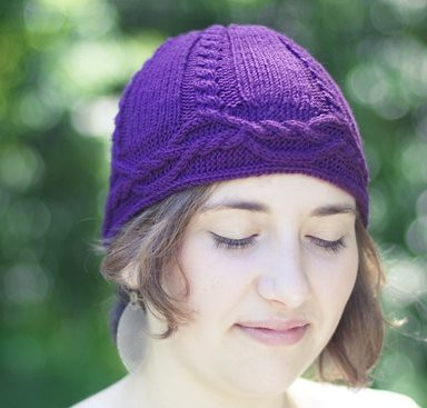 Interwoven unisex knitted cableknit hat cable band
