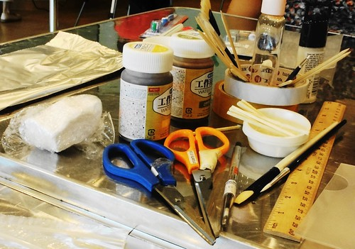 Tools and Material needed for modelling Clay Miniatures.