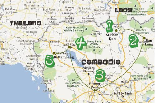 Cambodia SS Route