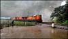 Shiny ALCo triplets @ Dudhsagar Waterfalls !! (sany20005) Tags: alco indianrailways diesellocomotive wdm3a dudhsagarwaterfalls wdg3a alcotriplets poornaexpress