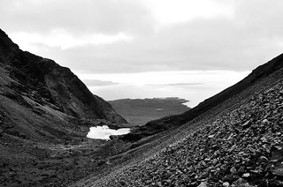 Black Cuillin's view on Loch Brittle and Rhum