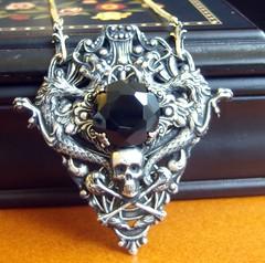 The Dread Lord Underworld (deirdrelefey) Tags: black halloween silver dark skull costume scary handmade gothic goth victorian dragons jewelry fantasy pirate macabre chic etsy creatures darkened