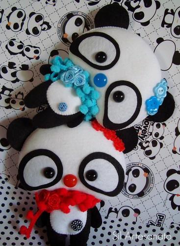 Panda Duet by Sil Artesanato