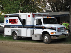 Emergency MedStat Ambulance (TrueWolverine87 (Busy)) Tags: michigan ambulance international paramedics medics lifesupport medicalresponse geneseecounty emergencymedstat emergencymedstatambulance