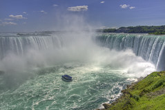 Niagara Falls HDR (Basic Elements Photography) Tags: toronto ontario canada color water niagarafalls boat waterfall falls maidofthemist hdr
