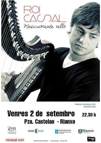 Rianxo 2011 - Noite Folk con Roi Casal - cartel
