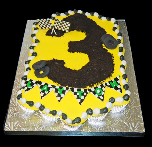 3rd birthday monster truck cupcake cake