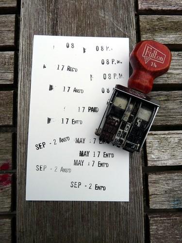 Vintage Date Stamp