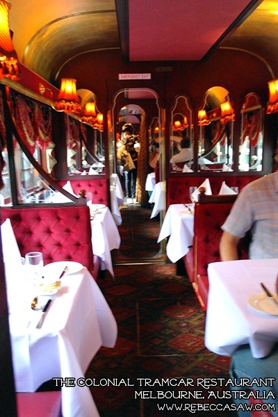 the colonial tramcar restaurant Melbourne-04