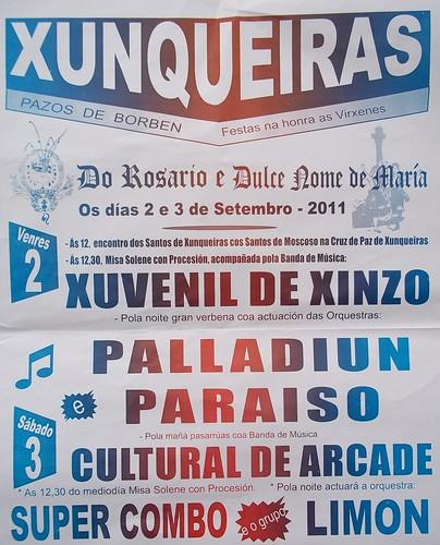 Pazos de Borbén 2011 - Festas en Xunqueiras - cartel