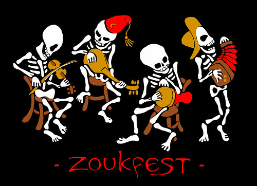 ZoukFest skeletons and logo