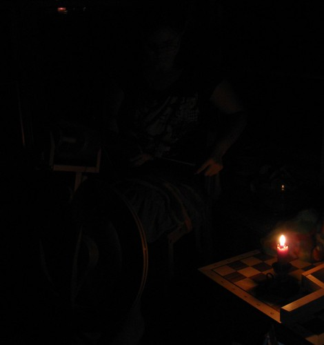 spinning by candlelight