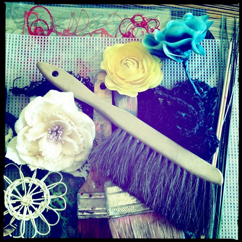painting tools...getting ready for a photoshoot