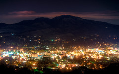 Walnut Creek & Diablo (Matt Granz Photography) Tags: california desktop city wallpaper mountain motion blur eye birds architecture night clouds stars photography lights nikon long exposure downtown mt view mount diablo walnutcreek hdr birdseye sfist contracosta d90 photomatix tonemapped mattgranz