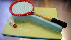 Badminton Racket Birthday Cake (CAKE Amsterdam - Cakes by ZOBOT) Tags: sport birdie 3d 2d badminton racket shuttlecock sintjansstraat61 taartatelier zoeelizabethgottehrerzoegottehreramsterdamcakeamsterdamcakescupcaketaartengebakcupcakescakejesthemespecialtycustombirthdaypartyvanillachocolatemarzipanfondantdecorated