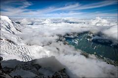 aiguille du midi (heavenuphere) Tags: snow france mountains alps clouds alpes landscape 1 climbing alpine chamonix 1022mm montblanc gi massif aiguilledumidi hautesavoie rhônealpes chamonixmontblanc téléphériquedelaiguilledumidi
