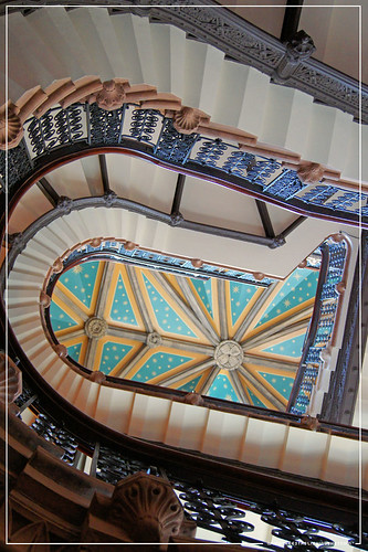Batman : St. Pancras Chambers Arkham Asylum stairwell from Batman Begins The Intimidation Game London St. Pancras Renaissance Marriott Hotel by Craig Grobler