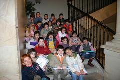 Alumnos de Anaitasuna Ikastola en la Casa Consistorial en los Talleres de Educación Ambiental con la monitora Isabel Prieto