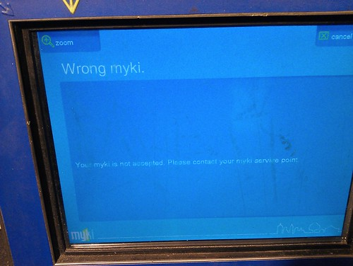 Wrong Myki error