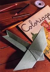 """Origami création - Didier Boursin - Avion """"écolier"""""""