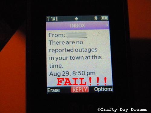 fail text