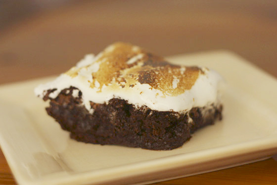 marshmallow smothered brownie