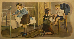 Illustration from a Russian school book (1957) Photo 12 (Anna Calvert Photography) Tags: pictures school boy people colour art girl vegetables illustration rural children book artistic russia farm farming drawings images 1957 russianart historial