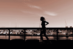 Running Girl (Explored) (. Jianwei .) Tags: silhouette vancouver streetlife 365  jianwei explored kemily mygearandme