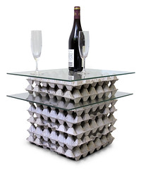 Egg crate table (Enno de Kroon) Tags: glass topv2222 trash paper table design recycled contemporary interior topv1111 t